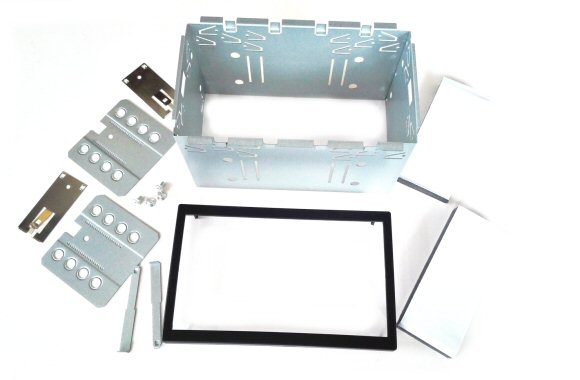 Double DIN Stereo Cage Kit 113mm High with Trim