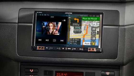 Alpine INE W997E46 - Double DIN Custom fit unit for BMW E46 with Navigation, Bluetooth, 7inch screen, FM, AM, Digital Radio, USB, HDMI