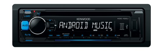 Kenwood  KDC-100UB - CD, FM/AM, Front USB, Android Compatible, Front Aux In, single DIN stereo