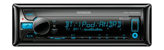 Kenwood KDC-X5000BT - CD/MP3/WMA/AAC,Bluetooth Handsfree and Music, Front Aux In, AM/FM, Front USB, Variable Colour Display, Face Off, 4 x 50W