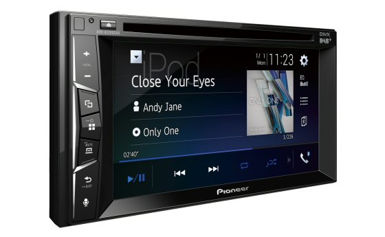 Pioneer AVH A3100DAB - Double DIN stereo with 6.2in Colour Touchscreen, CD/DVD, DAB Digital Radio, USB and Aux input