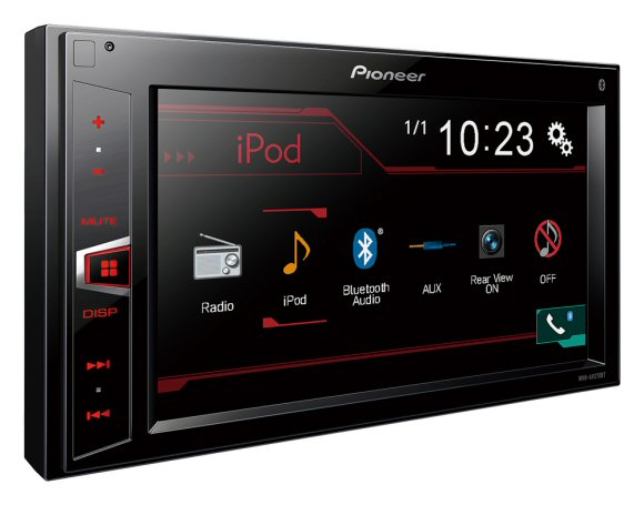 Pioneer MVH AV270BT - Mechless Double DIN stereo with Colour touchscreen, Bluetooth, AM/FM, USB and Aux input